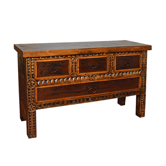 Washed Finish Carved Console