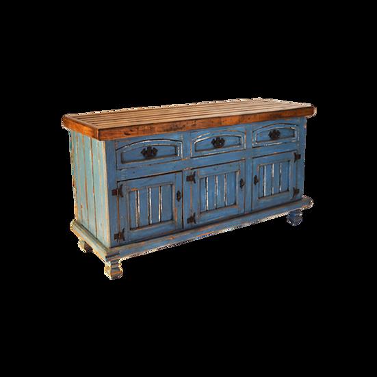 Blue Wash Three Drawer Console/Buffet