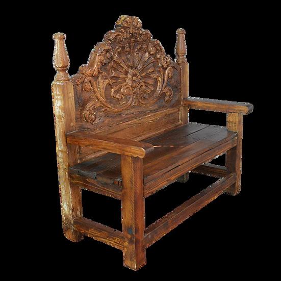 Original Wood Headboard Bench