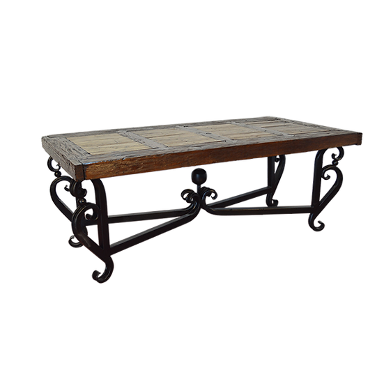 Custom Hand Forged Iron Base Dining Table
