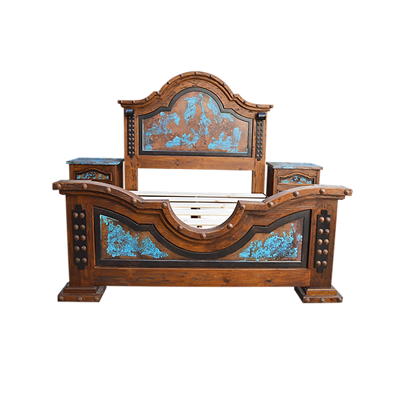 Rancho Turquoise Copper Bed