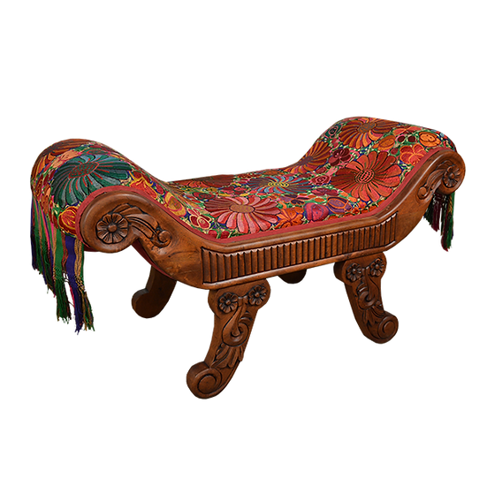 Hand Carved  Roman Bench
