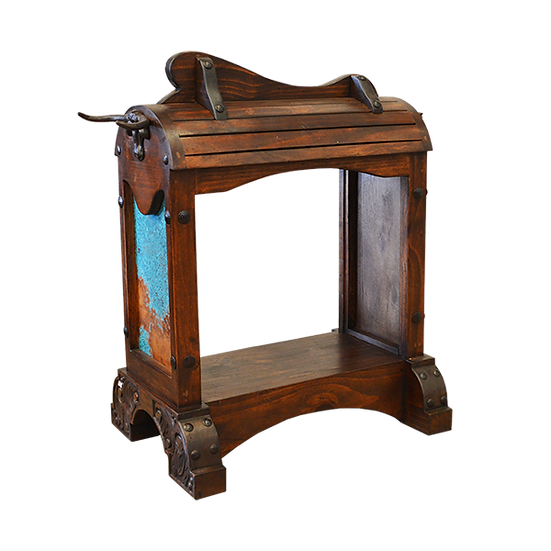 Saddle Stand with Turquoise Copper Inlay