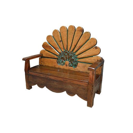 Carved Fan Back Bench