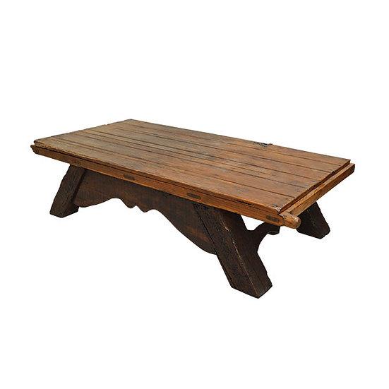 Original Colonial Mesquite Door Coffee Table