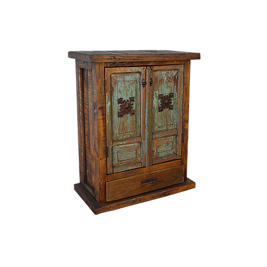 Chapeton Armoire with Turquoise Washed Finish Doors