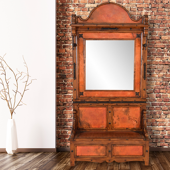 Copper Hall Tree with MIrror