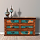 Thumbnail: Six Drawer Turquoise Copper Dresser