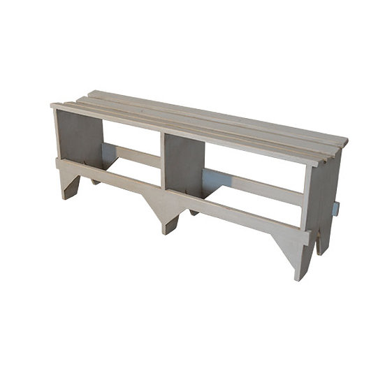 Rustic Standard Slat Bench