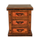 Thumbnail: Three Drawer Copper Nightstand