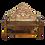 Thumbnail: Original Old Wood Headboard Bench