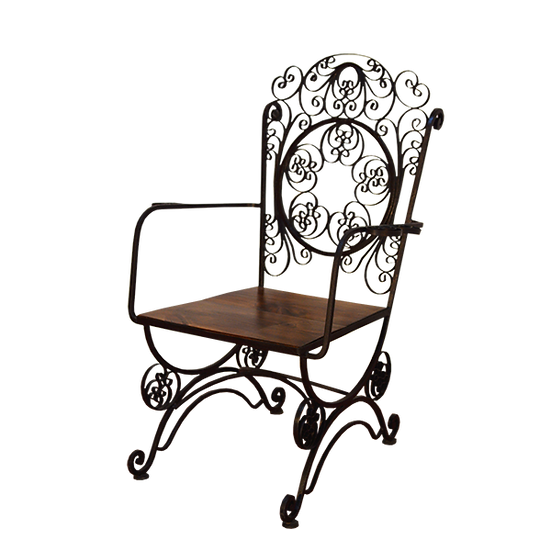 Wrought Iron Garden Chair