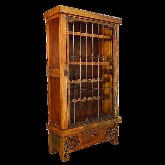 Iron Door Wine Armoire/Cabinet