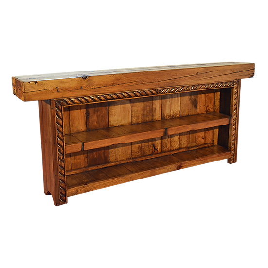 Hand Carved Rope Beam Console