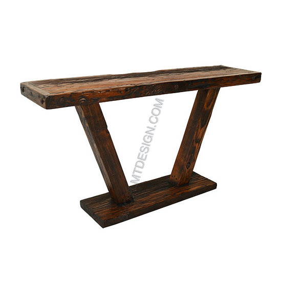 Reclaimed Aged Oregon Pine Entrance Console