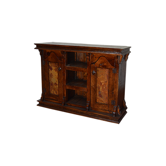 Three Door Buffet with Copper Inserts