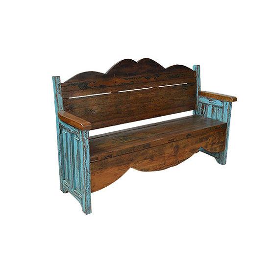 Original Old Door and Headboard Bench