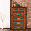 Thumbnail: Six Drawer Turquoise Copper Chest