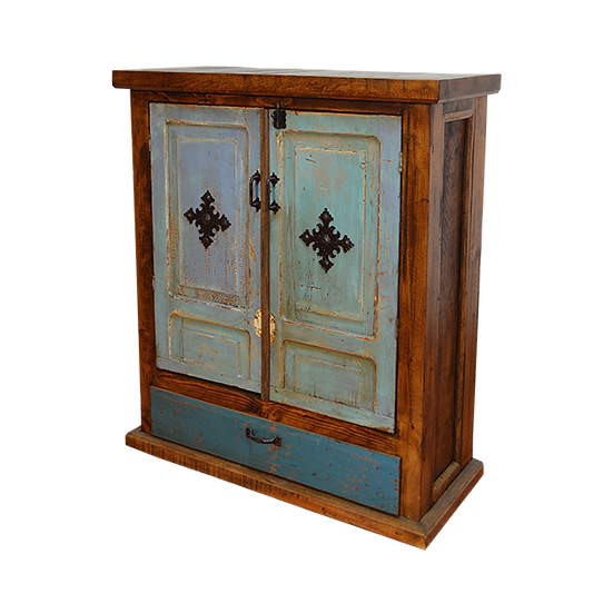 Armoire with Blue Washed Doors