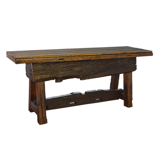Rustic Desk with Trunk Storage Area
