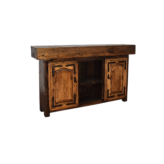 Timber Console with Center Shelf