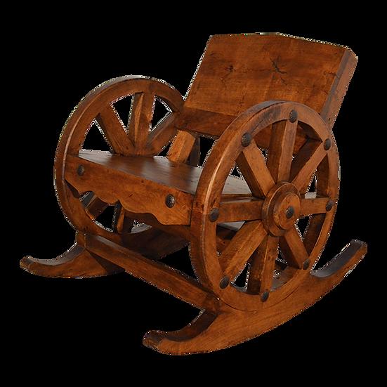 Mesquite Wagon Wheel Rocking Chair