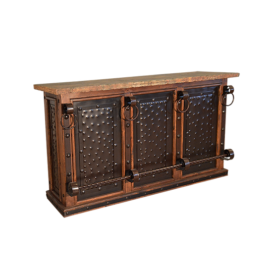 Bar with Stone Top and Tin Inserts