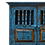 Thumbnail: Blue Kitchen Cabinet with Turned Legs