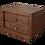 Thumbnail: Elite Rustic Platform Bed Nightstand