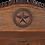 Thumbnail: Elite Rustic Texas Star Bench - Dark Finish