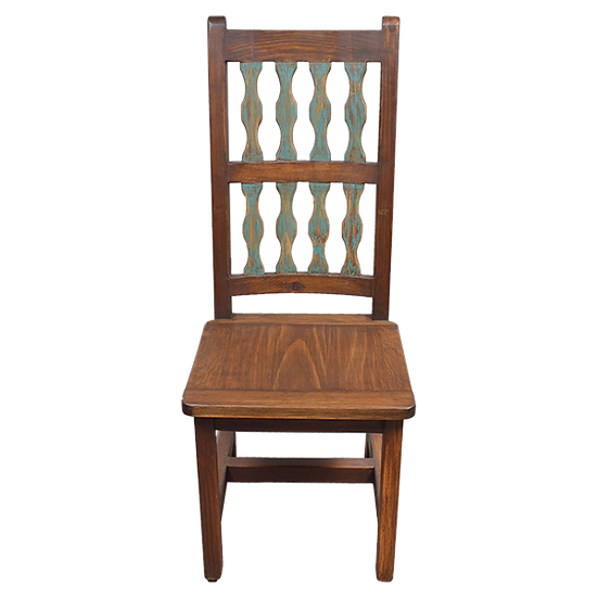 Dining  Chair with Carved Slats