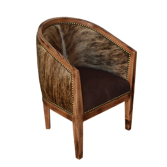 Oak Chair with Cowhide