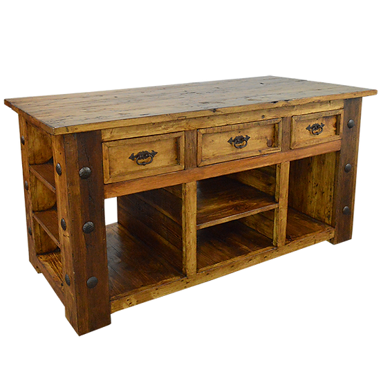 Kitchen Island with Clavos