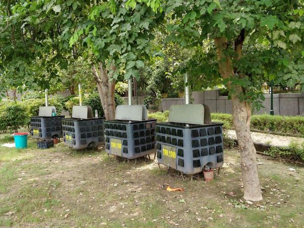 Compost Bins at Swachhta Prerna Udyan