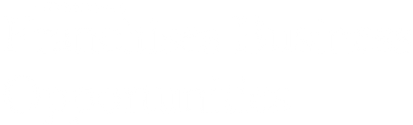 franchise business opportunities written in white text