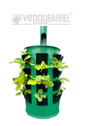 veggyBARREL Urban gardening system for growing plants