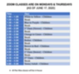 ZOOM CLASS SCHEDULE - June-August 2020.p