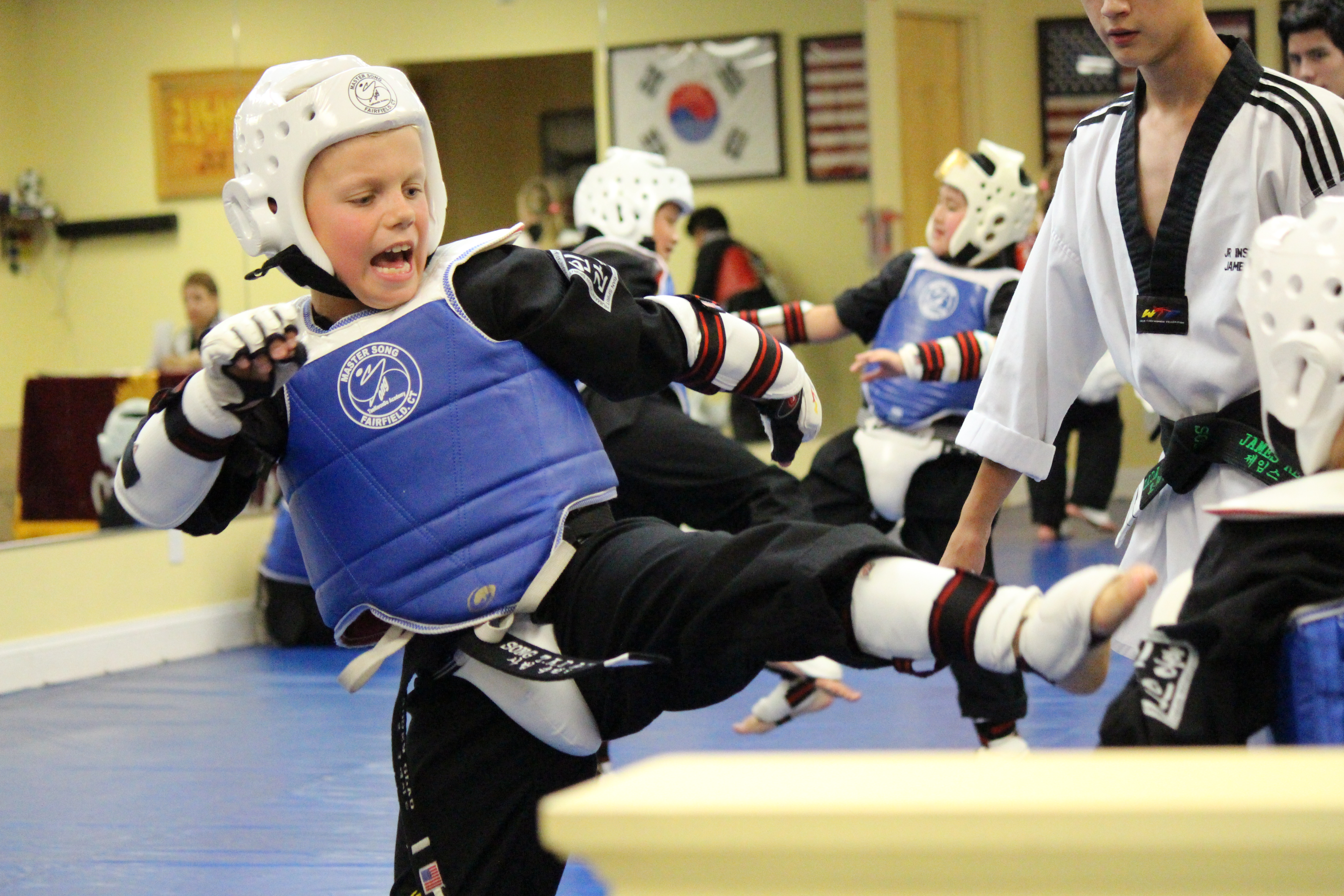 sparring kid