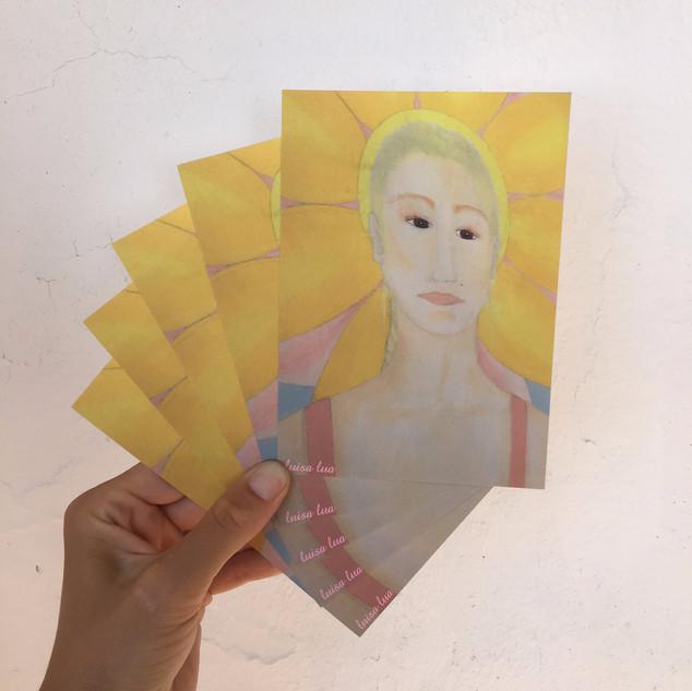 sun-woman (postcard)