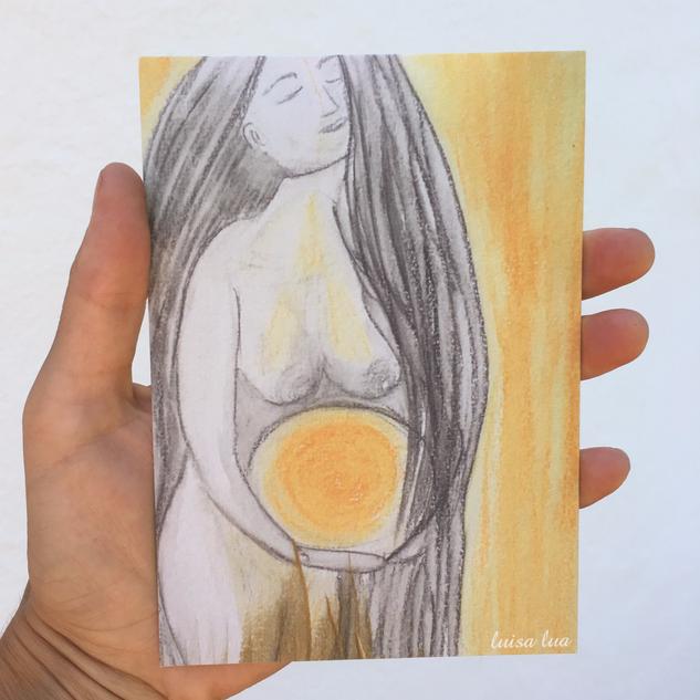 moon-woman (postcard)