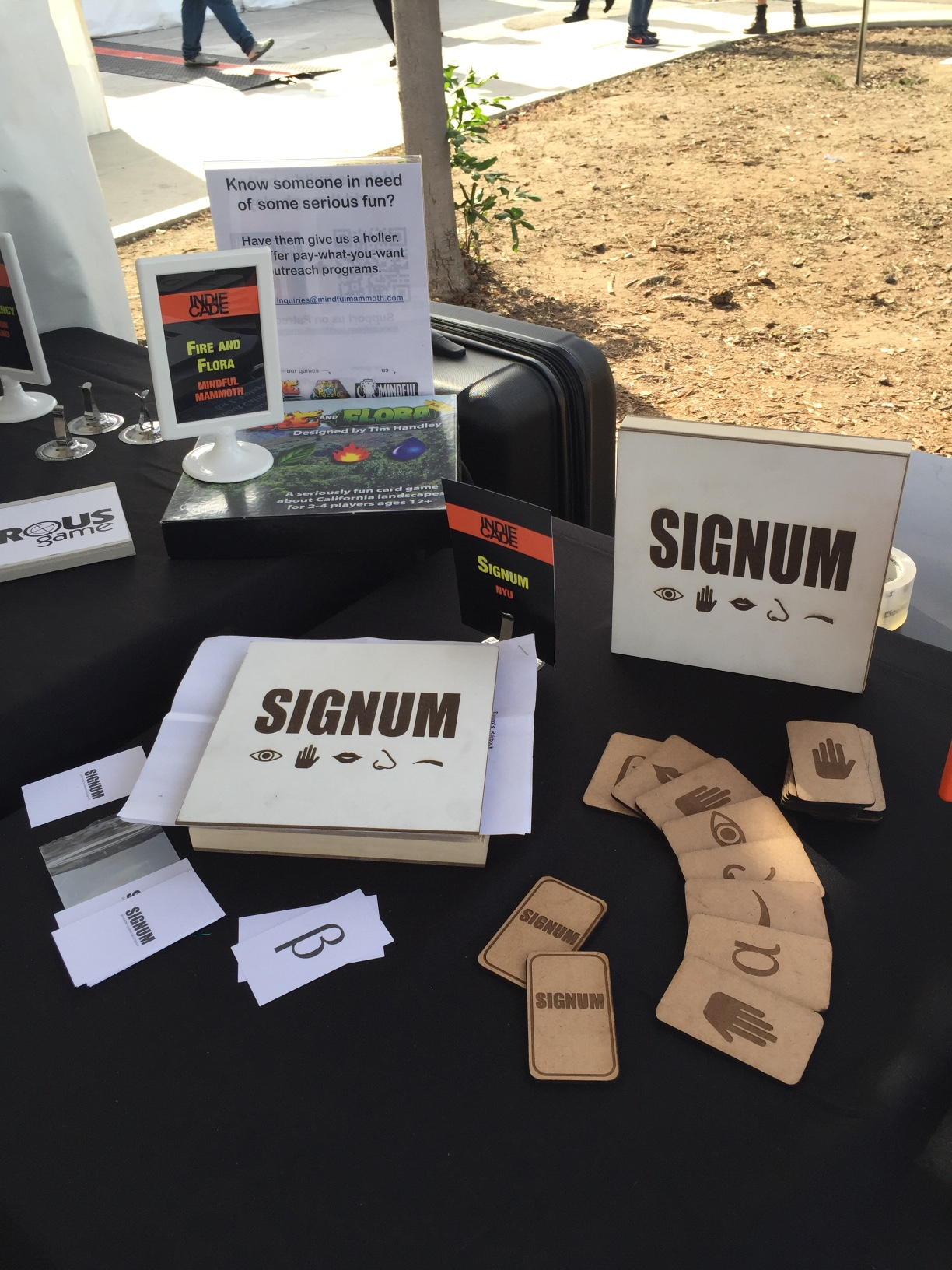 Signum at IndieCade Table Game Booth