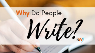 Why Do People Write?