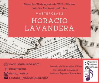 Masterclass de Horacio Lavandera