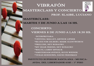 Vibrafón-Masterclass y Concierto