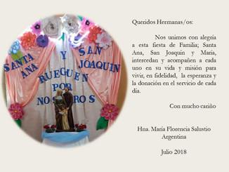 Día de Santa Ana y San Joaquín