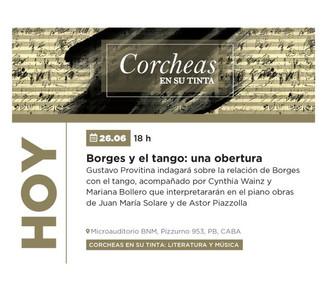 Corcheas en su tinta: Borges - Piazzola