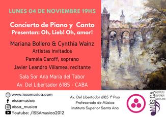 Concierto de Piano y Canto