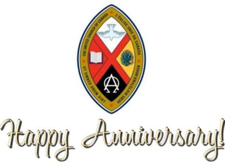 Happy Anniversary to The United Church of Canada