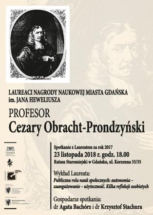 Spotkanie z prof. Cezarym Obracht-Prondzyńskim 23.11.2018 r.