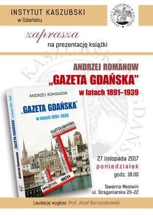 """27 listopada zapraszamy do Tawerny Mestwin na promocję książki prof. Andrzeja Romanowa pt. """"&qu"""